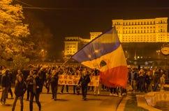 Protesto romeno 04/11/2015 foto de stock