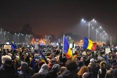 Protesto romeno da democracia fotos de stock royalty free