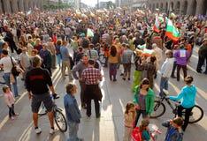 Protesto socialista do governo de Bulgária anti Imagens de Stock Royalty Free