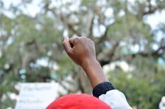 Protesto Tallahassee do Anti-trunfo, Florida imagens de stock