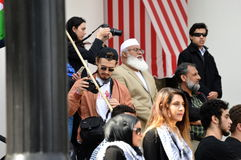 Protesto Tallahassee do Anti-trunfo, Florida fotografia de stock royalty free