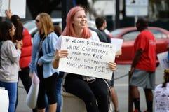 Protesto Tallahassee do Anti-trunfo, Florida Foto de Stock Royalty Free