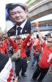 Protesto vermelho da camisa - Banguecoque Fotografia de Stock Royalty Free