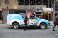 Protesto violento contra o governo no Rio do centro Imagem de Stock Royalty Free