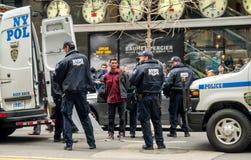 Protestor arrestado Foto de archivo libre de regalías