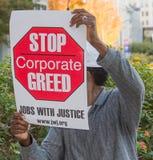 Protestor del desempleo fotografía de archivo libre de regalías