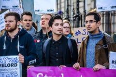 Protestor en la protesta Foto de archivo