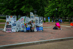 Protestor w washington dc Obrazy Stock