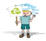 Protestorkerl mit Zeichen Lizenzfreie Stockfotos