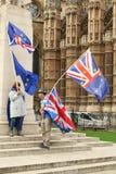 Protestors antis-Brexit en Londres fotografía de archivo libre de regalías