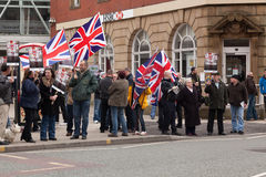 Protestors del BNP en la calle Imagen de archivo