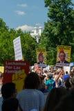 Protestors an den Familien gehören zusammen Sammlung lizenzfreie stockfotografie