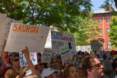 Protestors an den Familien gehören zusammen Sammlung lizenzfreie stockfotos