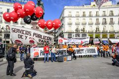 Protestors in Madrid Stock Images