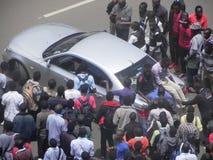 Protestors in Narobi. University students protest   in Nairobi Kenya Stock Images