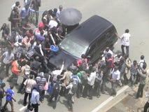 Protestors in Narobi. Univesity students protest   in Nairobi Kenya Royalty Free Stock Photos