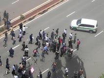 Protestors in Narobi. Univesity students protest   in Nairobi Kenya Stock Image