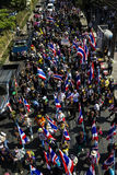 Protestors on Sukhumvit Road Stock Photos