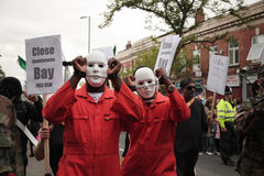 Protestors van de straat Stock Foto