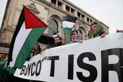 Protestos Anti-Israelitas em Paris Fotografia de Stock Royalty Free