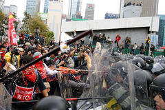 Protestos Anti-WTO em Hong Kong Fotos de Stock Royalty Free
