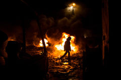 Protestos antigovernamentais maciços em Kiev, Ucrânia. Imagens de Stock Royalty Free