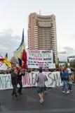 Protestos contra a extração do ouro do cianureto em Rosia Montana Foto de Stock Royalty Free