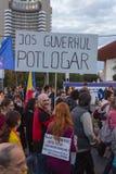 Protestos contra a extração do ouro do cianureto em Rosia Montana Imagem de Stock