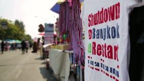 Protestos da parada programada de Banguecoque, Tailândia filme
