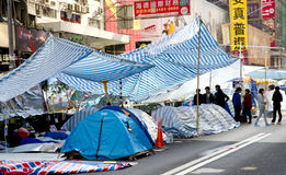 Protestos da pro-democracia de Hong Kong Fotografia de Stock
