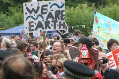 Protestos de Balcombe Fracking Fotografia de Stock Royalty Free
