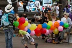 Protestos de Barcelona Fotografia de Stock Royalty Free