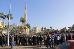 Protestos de Egipto Foto de Stock Royalty Free