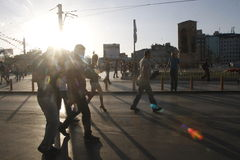 Protestos de Istambul Taksim Fotografia de Stock