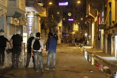 Protestos de Istambul Taksim Imagens de Stock