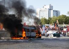 Protestos do parque de Gezi em Istambul fotografia de stock