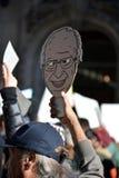 Protestos do trunfo Imagem de Stock