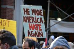 Protestos do trunfo Foto de Stock