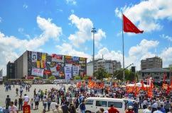 Protestos e eventos do parque de Taksim Gezi Começou o agai da ação Foto de Stock