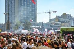 Protestos e eventos do parque de Taksim Gezi Começou o agai da ação Fotografia de Stock Royalty Free
