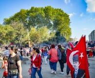Protestos e eventos do parque de Taksim Gezi Começou o agai da ação Imagens de Stock