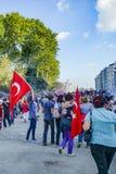 Protestos e eventos do parque de Taksim Gezi Começou o agai da ação Foto de Stock Royalty Free