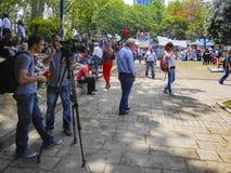 Protestos e eventos do parque de Taksim Gezi Inter mostrado meios do protesto Imagens de Stock Royalty Free