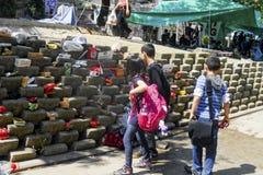 Protestos e eventos do parque de Taksim Gezi Os primeiros socorros dos protestadores, Imagens de Stock Royalty Free