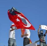 Protestos e eventos do parque de Taksim Gezi Uma vista dos protestos mim Imagem de Stock Royalty Free