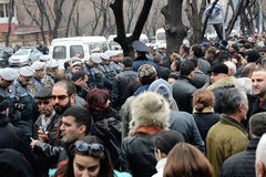 Protestos em Arménia: transição democrática da potência sem sangue Foto de Stock