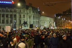 Protestos em Bucareste Imagem de Stock Royalty Free