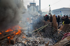 Protestos em Kiev Foto de Stock