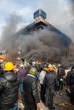 Protestos em Kiev Fotografia de Stock