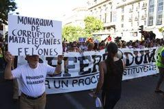 Protestos em madrid Fotografia de Stock